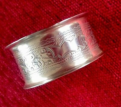 Victorian solid silver napkin by William Hayes
