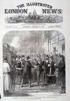 1874 Print Arrival Of The Prince & Princess Of Wales At St Petersburg