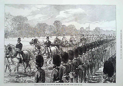 1874 Print Review At Windsor Of Troops From The Ashantee War