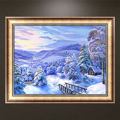 Snowscape DIY 5D Full Diamond Painting Embroidery Cross Stitch Home Decor Craft