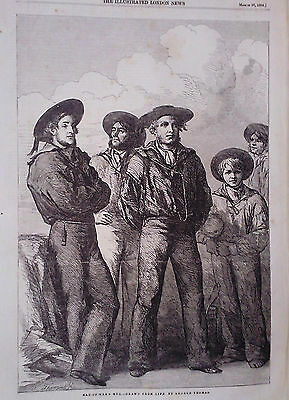 1854 Print Man Of War's Men Drawn From Life By George Thomas