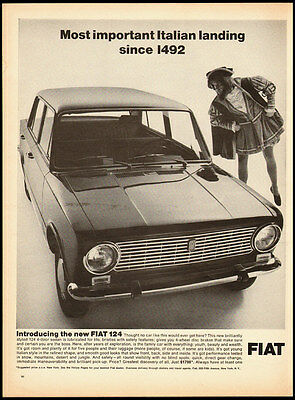 1966 vintage automobile ad for the 'New Fiat 124!' -090112
