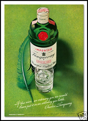 1971 Tanguerey Gin collectible beverage print ad