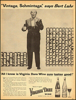 1950s vintage ad for Virginia Dare Wines with Bert Lahr -090712
