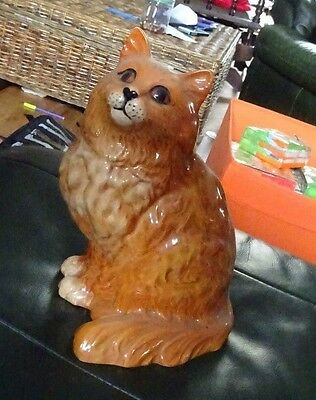Beswick large ginger cat excellent cond FREE P&P #