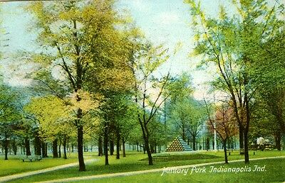 Indianapolis,IN. 1909 view in Military Park