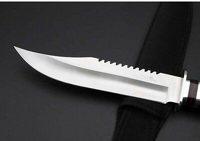 "12"" Bowie Camping Hunting Fishing Fixed Edge Jungle Survival Collect Knife 3201A"