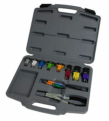 Lisle #60660: Deluxe Relay Test Set w/ (8) Jumpers, Test Leads, & Relay Pliers.