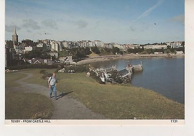 Tenby from Castle Hill. Postcard in GC. Unwritten and Unposted
