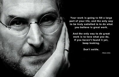 STEVE JOBS  QUOTE APPLE FOUNDER  poster 11 x 17