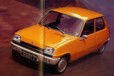 "1977 - RENAULT ""5"" - L, TL, GTL & TS versions - French sales brochure, prospekte"