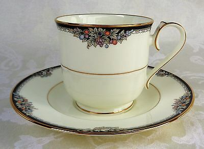 Noritake Bone China Philharmonic Footed Cup And Saucer Set