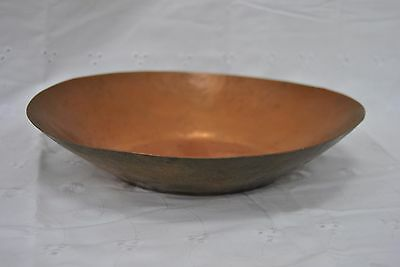 """Hand Made Rhodesian Copper Large Copper Bowl 11"""" Across"""