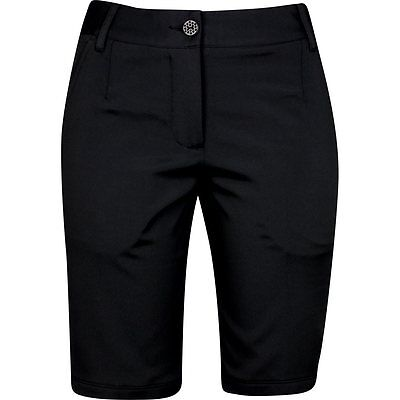 Womens Puma Drycell Solid Tech Bermuda Black Golf Shorts
