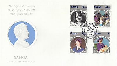 (94951) Samoa FDC Queen Mother Life & Times 7 June 1985