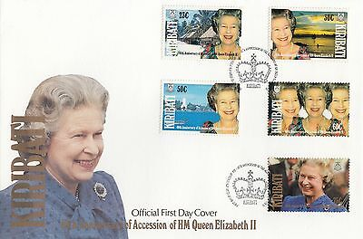 (94937) Kiribati FDC Queen 40 years Accession 6 February 1992