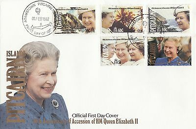 (94935) Pitcairn Islands  FDC Queen 40 years Accession 6 February 1992