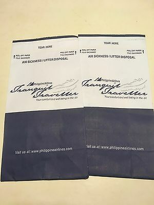 Philippine Airlines Air Sickness Bags x2