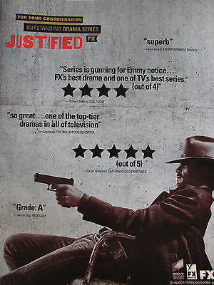 Justified Rare 2012   EMMY AD