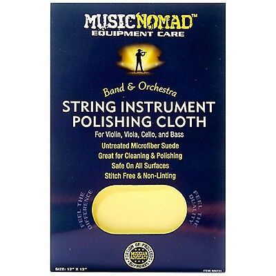 Music Nomad String Instrument Microfiber Polishing Cloth for Violin, Viola 12x12
