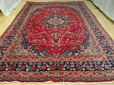 Very Large PERSIAN CARPET RUG HAND MADE  traditional vintage WOOL  10ft 9 x 8ft
