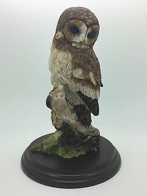 Large Tawny Owl Figurine  Keith Sherwin 1984 Richard Cooper & Co Country Artists