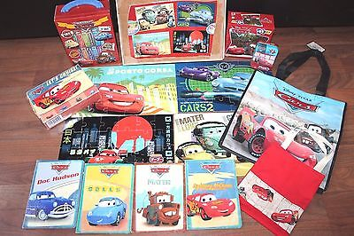 Lot Disney Pixar Cars Board Books Wooden Wood Puzzles Learning Toys Bag Euc