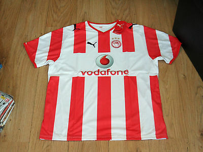 Olympiakos Home Shirt Player Issue Xl Mens Brand New Tagged