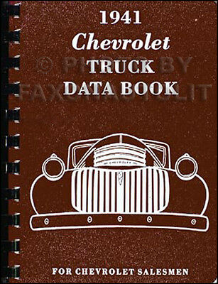 1941 Chevy Truck Data Book 41 Pickup Sedan Delivery Heavy Truck Chevrolet