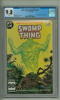 Saga of the Swamp Thing 37 (CGC 9.8) White p; 1st app. John Constantine (c#10277