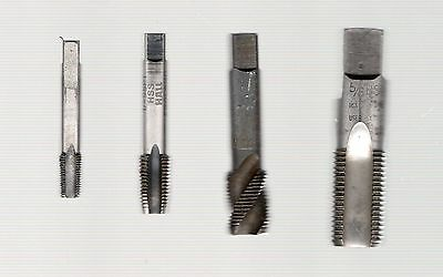"""milling / turning - BSP assorted threading taps x 4  - 1/8"""", 1/4"""", 3/8"""", 5/8"""""""