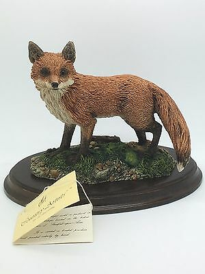 Large Red Fox Figurine  Keith Sherwin 1984 Richard Cooper & Co Country Artists