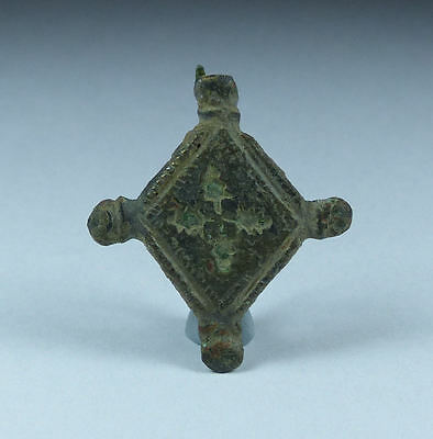 Ancient Roman Bronze Plate Brooch 1St Ad