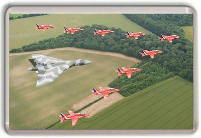 Red Arrows And Vulcan Bomber Fridge Magnet 02