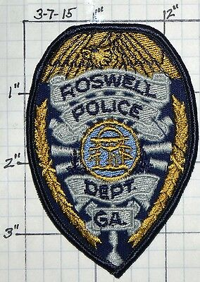 Georgia, Roswell Police Dept Small Patch