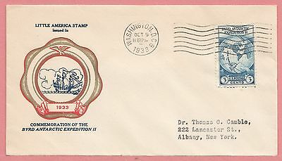 1933 #733 Byrd Antarctic Expedition 3C Fdc Rice Cachet Cover
