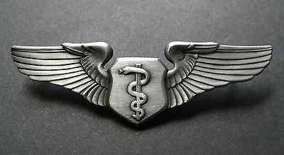 Usaf Air Force Large Flight Surgeon Basic Wings Lapel Pin Badge 3 Inches