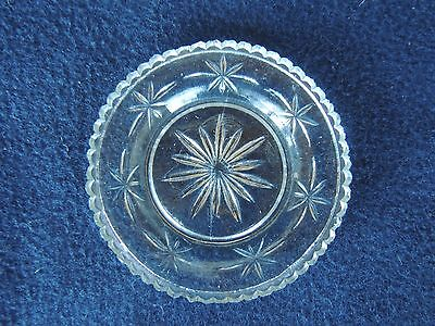 """Antique Lacy Sandwich Glass Cup Plate Star 3.25"""" original conventional"""