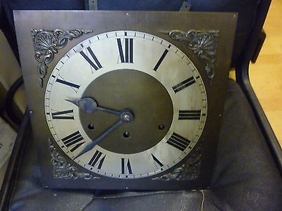 Original 1930s Longcase Grandfather Clock Spring Driven Chimeing Movement+Dial(2