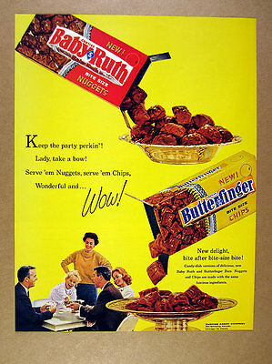1961 Baby Ruth & Butterfinger Bite-Size Candy vintage print Ad