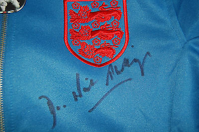 1966 World Cup Final England Track Suit Top Signed By Dr Neil Phillips