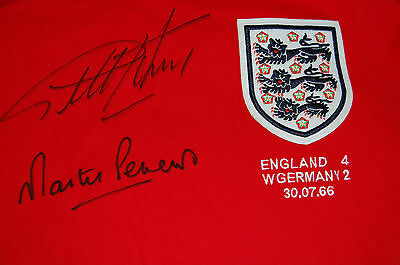 1966 World Cup Final England Shirt Signed Hurst And Peters