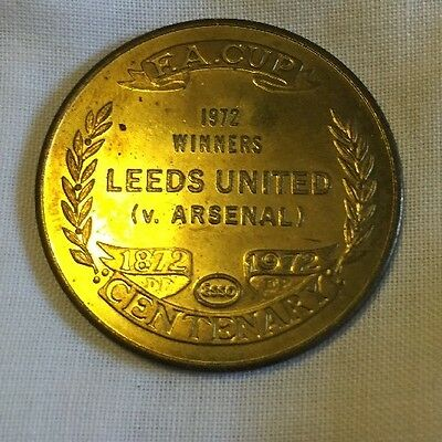 Coin Collectible F.A. CUP Leeds United Winners Coin. Leeds United V Arsenal 1972