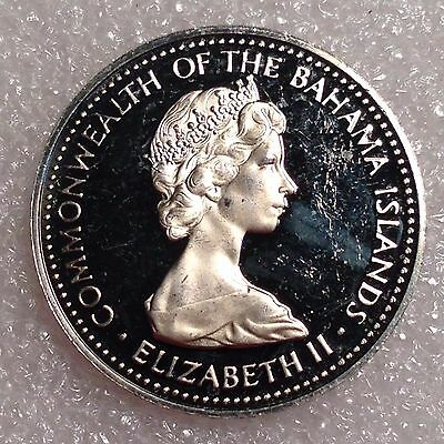Bahamas 5 Cents 1973 Great PROOF Coin Copper-Nickel  #1288