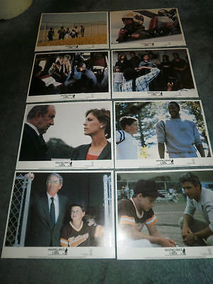 Amazing Grace And Chuck(1987)Gregory Peck Orig Lobby Card Set Of 8 Mint!