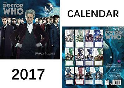 Doctor Who Classic Edition Official 2017 Calendar + Doctor Who Fridge Magnet