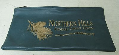 Collectible Northern Hills Federal Credit Union Vinyl Green Bank Bag