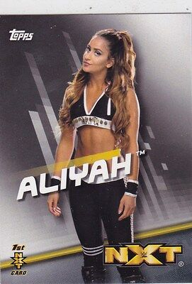 2016 Topps Wwe Sexy From Ontario Canada Aliyah Retail Wrestling Nxt Card