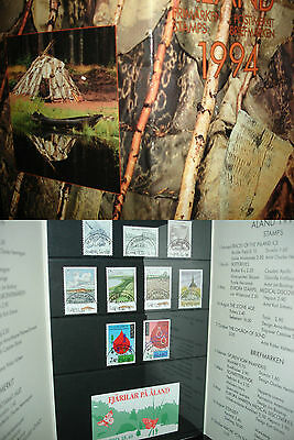 1994 Finland/Aland Yearset/Yearbook/Folder/Libro Cancelled Stamps Annullati