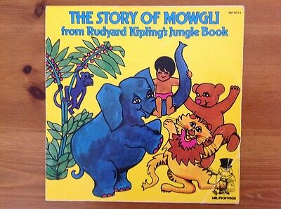 THE STORY OF MOWGLI 1971 vinyl 45rpm single MR PICKWICK story series